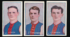 1908 1909 Sniders and Abrahams Melbourne Team set 3 Football cards Demons VFL r