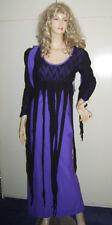 Ladies Purple Black Goth Gothic Spider Witch Spiderella Fancy Dress Costume M