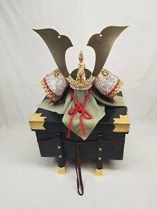Vintage Ceremonial Mini Japanese Samurai Kabuto Kusunoki Masashige Helmet