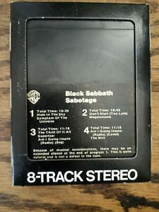 Black Sabbath -Sabotage- 8 Track Tape- Used Hard Rock- Tested