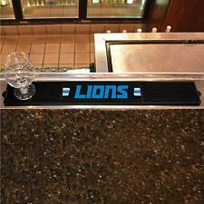 "Detroit Lions 3.25"" x 24"" Bar Drink Mat - Man Cave, Bar, Game Room"
