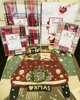 Pottery Barn Kids Morgan Queen Duvet Santa Sheet Set Sham Pillow Christmas Decor
