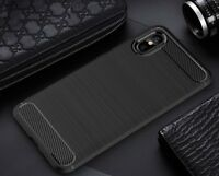 For Xiaomi Mi 8 Pro Case Carbon Fibre Gel Cover Ultra Slim Shockproof