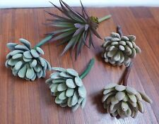 5 Mini Plants Artificial Sonwball Agave Succulent Plants Lifelike Landscape