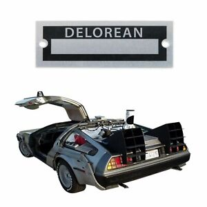 Delorean Name Plate Serial Data Tag Time Machine Back to Future Dr. Brown McFly
