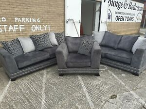 Andreas 4 seater sofa, 3 seater sofa and armchair. Ex ScS stock