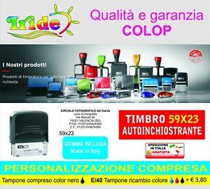 Timbro  autoinchiostrante personalizzato 59x23mm  colop C40 Timbro + logo