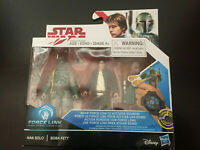 STAR WARS 2 PACK FORCE LINK HAN SOLO & BOBA FETT WITH FLAMES
