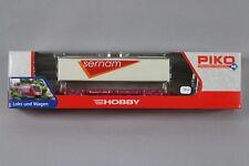 Z612 PIKO train 95611 Ho wagon porte container SERNAM SNCF V 2 essieux