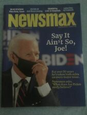 Newsmax Magazine August 2020 Independent American Joe Biden Dementia Taxes Riots