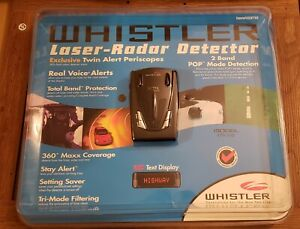 Whistler Radar Detector XTR-550 Brand New in Package with power cable & Manual
