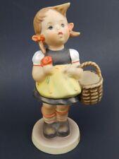 """Vintage Hummel Goebel Germany Sister Girl with Flower & Basket 5 1/4"""" Figurine"""