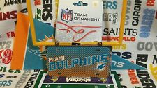NFL Miami Dolphins metal license plate ornament by Forever Collectibles  *New*