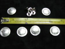 6 SCREW BACK 3/4  IN SILVER CONCHOS