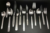 Airline Flatware; 13-Piece Lot of Stainless Knives Forks & Spoons (RF913)