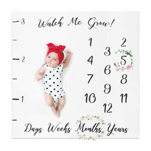 Milestone Photography Baby Infant Blanket Monthly Flower Number Photo Prop AU
