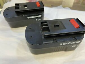 black and decker 18v battery X2 with charger