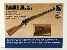 Marlin Model 336 Rifle .30-30 Firearms Atlas Photo Spec History Card USA