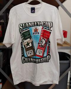 Vintage Buffalo Sabres Dallas Stars NHL Hockey Stanley Cup T-Shirt 1999 Size L