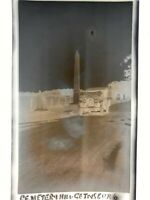 1920s photo Negative,  Gettysburg, Cemetery Hill & old Packard Car