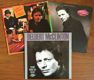 """3 Delbert McClinton LPs: """"Second Wind"""", Keeper of the Flame"""" (Plus 1 more)"""