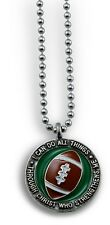 "Forgiven Jewelry Football Necklace on 24"" Chain- I Can Do All Things Phil 4:13"