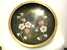 Small Cloisonné Dish Nuts/Pins/Trenket,Color Black,Green,Pink,Red,Blos som Motif