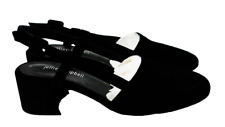 JEFFREY CAMPBELL Womens Black Suede Maite Low Heel Sandals Size 7.5 NEW