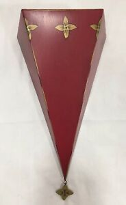 SOUTHERN LIVING AT HOME Red Tin Sassy Wall Sconce  #40404 Lightweight Metal