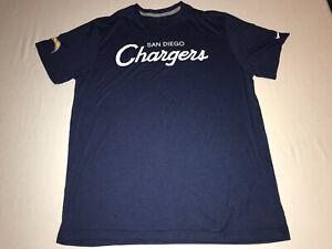 San Diego Chargers Nike Dri-Fit T Shirt Mens XXL NFL On Field Navy Blue