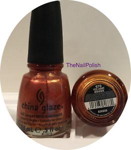 China Glaze Nail Polish * Yee-Haw! * 670 #80888 Burnt Orange Shimmer Red Brown