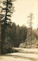 Dark Canyon 1937 La Mesa California Postcard RPPC 5799