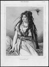1882 Antique Print - FINE ART PICTURE ROSA GIPSY GIRL DRAWING JF PORTAELS  (146)