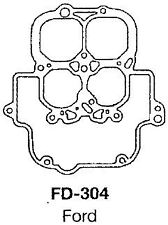 CARBURETTOR KIT SUITS FORD FALCON XR,XT,XW,XY,XA,XB 66-76 V8 CARB TYPE F4 FD-304