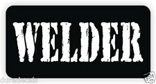 WELDER Hard Hat Sticker | Decal Label Danger Motorcycle Helmet Welding Rodbuster