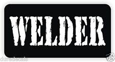 WELDER Hard Hat Sticker | Decal Label Danger Motorcycle Helmet Welding Rodbuster