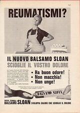Pubblicità Advertising Werbung 1961 BALSAMO SLOAN