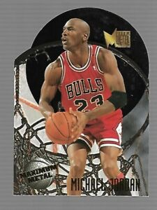 1995-96 METAL MAXIMUM METAL DIECUT 10 CARD SET - MICHAEL JORDAN - RARE!!!!