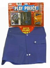 Police Playset Dress Up Role Play Outfit Cops Costume Accessories Play Kit