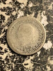 1874 Colombia 5 Centavos Lot#A70 Silver! Scarce!