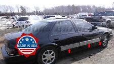 "1992-1997 Cadillac Seville Rocker Panel Trim Body Side Molding 6Pc 4"" Upper"