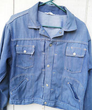 VINTAGE PENNY'S RANCHCRAFT DENIM SNAP PLEATED JACKET SIZE IS A MENS 40 OR MED