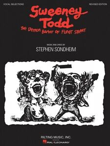 Sweeney Todd Revised Edition Sheet Music Vocal Selections Book NEW 000313444