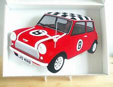 Mini Car Wall Clock, 60s Mini Car, Mini Cooper Wall Clock, Mini Mod Wall Clock