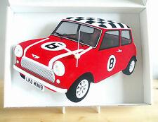 Mini Clock, Classic Vintage Mini Car Clock, 60s Mini Car, Mini Car Wall Clock