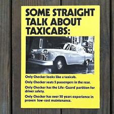 2 Original CHECKER YELLOW TAXI CAB Showroom Brochure Folder 1981 NOS
