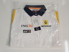 ING RENAULT F1 TEAM WOMENS POLO SHIRT NEW SMALL  7711 424 197 MULTI LOGO 2008/9