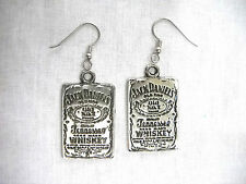 NEW JD OLD No 7 TENNESSEE WHISKEY USA CAST PEWTER FULL PENDANT DANGLING EARRINGS