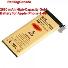 2680 mAh High-Capacity Gold Battery for Apple iPhone 4 4G - Same day shipping