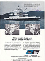 VINTAGE AD SHEET #3110 - 1972 WHITE ENGINES - FERRY BOATS
